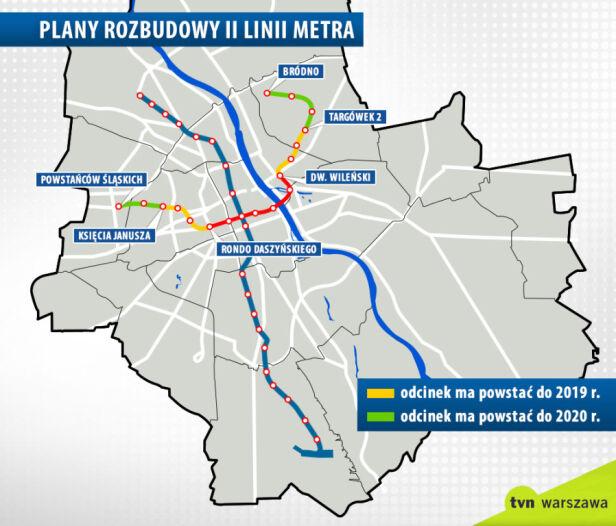 Rozbudowa metra według obietnic ratusza tvn24.pl