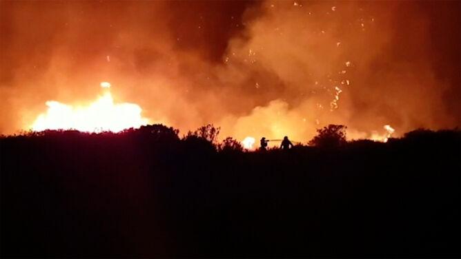 """Pożary na Gran Canarii. <br />""""Dym utrudniał oddychanie"""""""