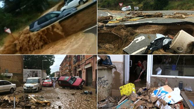 Woda porywała samochody. <br />Powodzie błyskawiczne w Hiszpanii