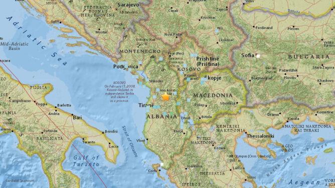 Trzęsienie ziemi w Albanii o magnitudzie 5.1. <br />W Bulqizie popękały budynki