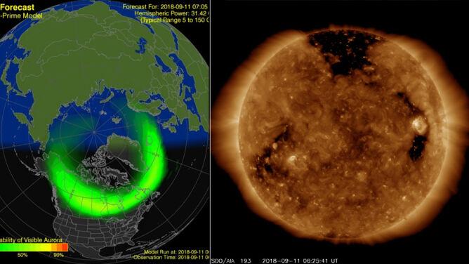 Do Ziemi dociera z gigantyczną prędkością <br />burza słoneczna