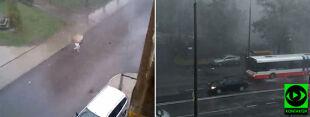 """Chmura, która chciała """"pochłonąć"""" Radom. W Lublinie gałąź spadła na autobus"""