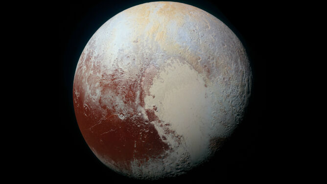Pluton na zdjęciach misji New Horizons (NASA)